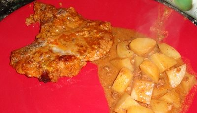 Crockpot Cowboy Pork Chops