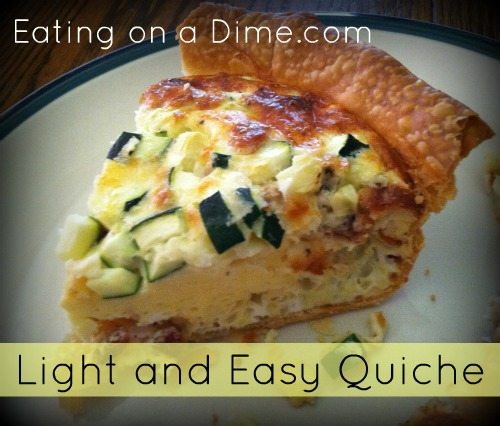 Light and Easy Quiche