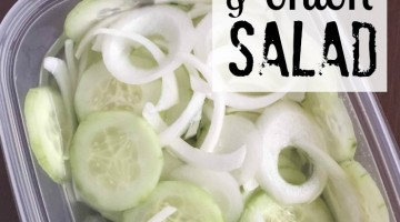Cucumber Onion Salad Recipe
