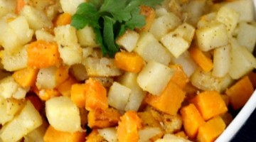 Pan-Fried Sweet Potatoes & Potatoes Recipe