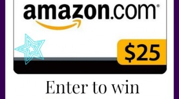 Enter to win a $25 Amazon Gift card! (Ends June 24th)