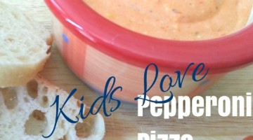 Pepperoni Pizza Dip – easy after school snack