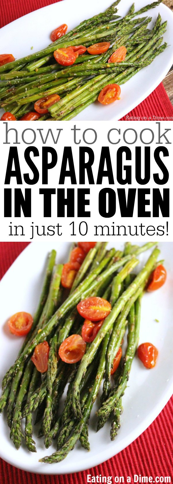 How To Coook Asparagus In The Oven  Easy Roasted Asparagus Recipe