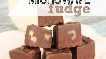 3 Minute Easy Microwave Fudge Recipe