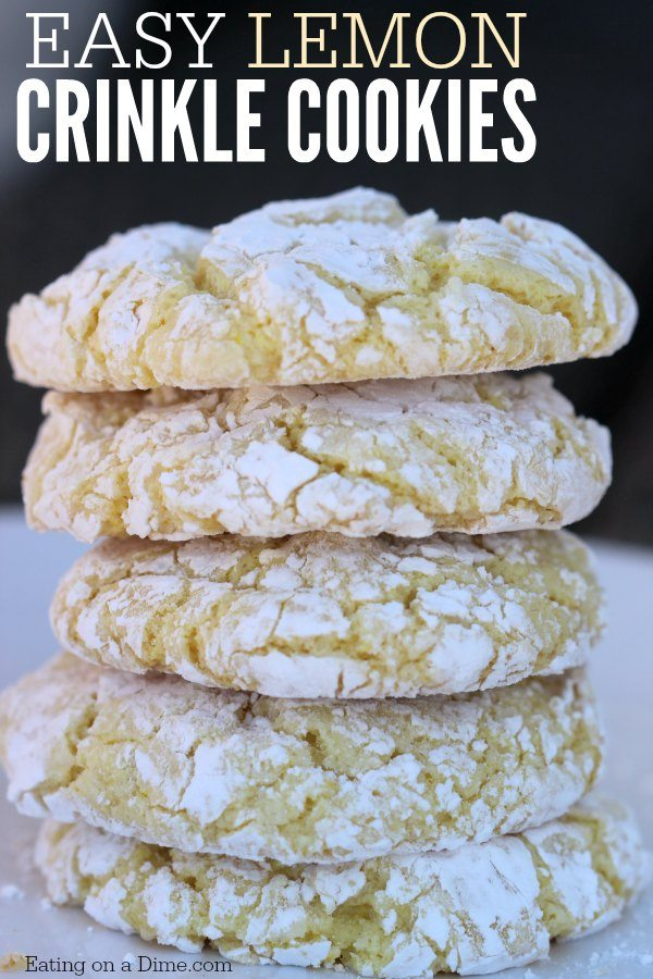 Easy Lemon Cookies With Cake Mix