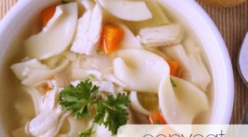CopyCat Panera Bread Chicken Noodle Soup Recipe