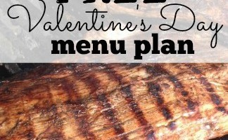 Valentines Day Dinner for 2 for just $14 {with printable grocery list}
