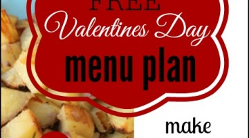 Valentines Day Menu for 2 – Under $14 total