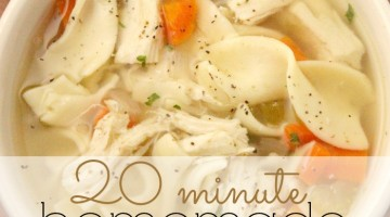 20 minute Homemade Chicken Noodle Soup Recipe