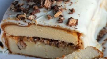 15 minute Chocolate Peanut Butter Cake #UniquelyYours