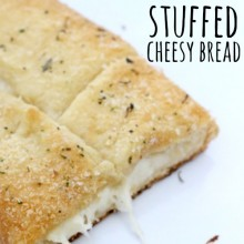 15 minutes Stuffed Cheesy Bread