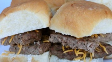 15 Minute burger sliders recipe