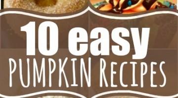 Easy Fall Pumpkin Recipes