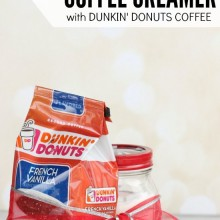Homemade Powdered Coffee Creamer with Dunkin Donuts Coffee