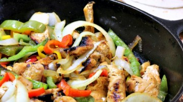 Quick Skillet Chicken Fajitas Recipe