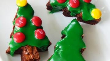 How to Make Christmas Tree Brownies