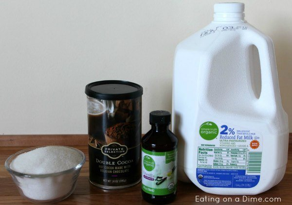 how to make hot chocolate with milk in the microwave