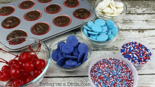4th of July Brownies - Easy Bomb Brownie Bites - Eating on ...