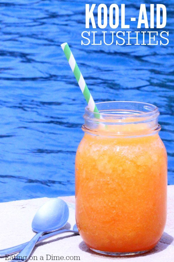 How to make a Slushie with Kool Aid mix. These kool-aid slushies are fun for kids in the summer. These Kool aid slushies are so easy to make. Once you learn how to make a slushie, the kids will be so excited! Find out how to make slushies and beat the heat!