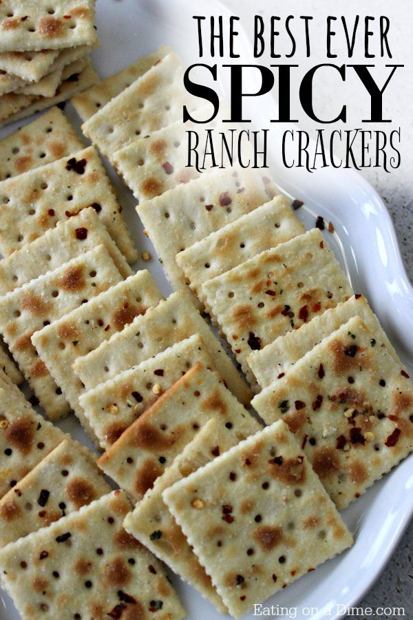 Enjoy perfectly seasoned crackers when you make this easySpicy Ranch Crackers Recipe. Each cracker is flavorful and baked to perfection for a tasty snack.