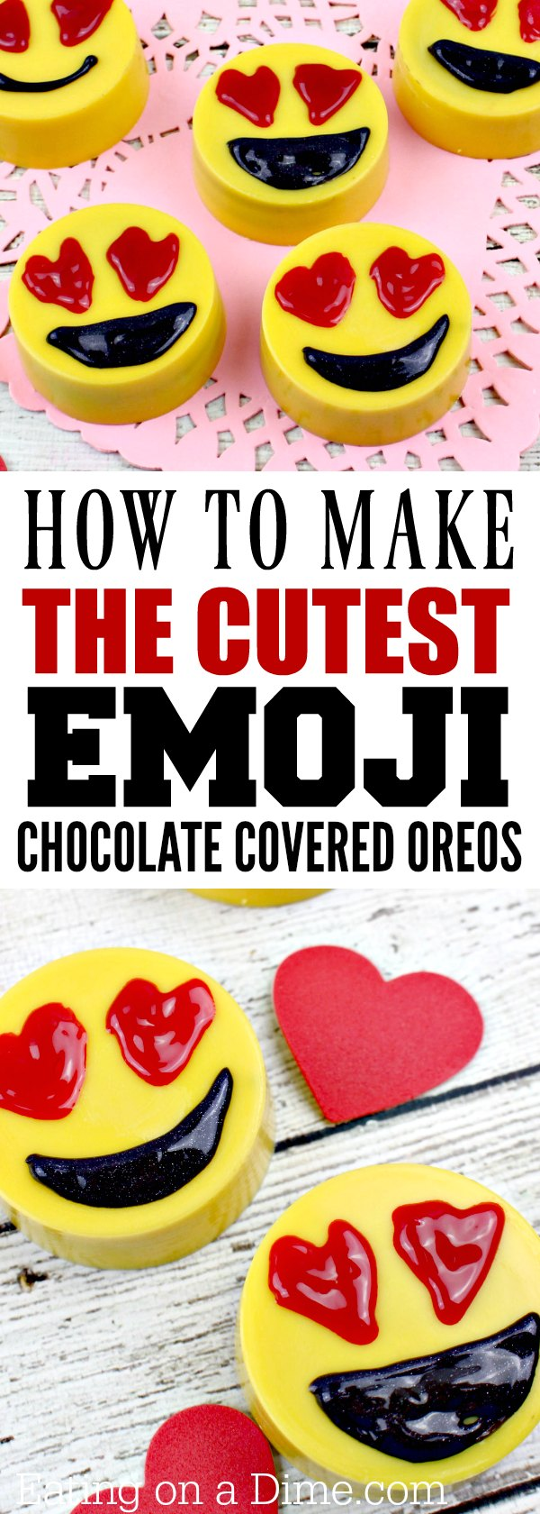 How to make Emoji Chocolate Covered Oreos - Eating on a Dime