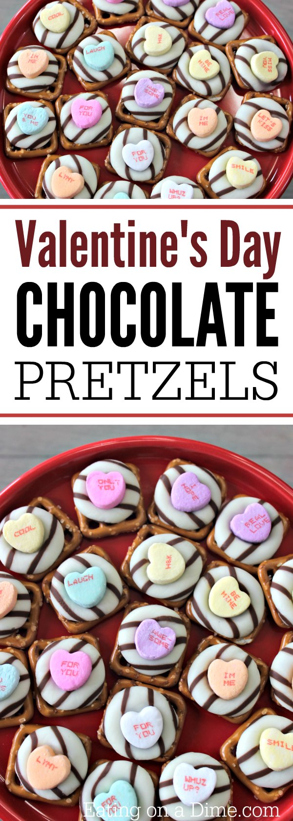 Valentine's Day White Chocolate Pretzels recipe - Pretzel Kisses