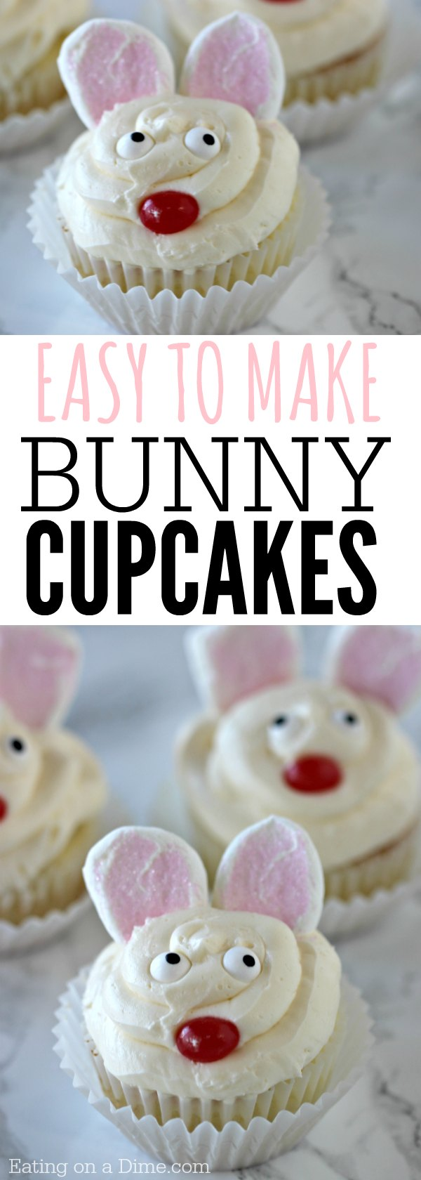Looking For Easy Easter Cupcake Recipes? How To Make Bunny Cupcakes In  Minutes! These