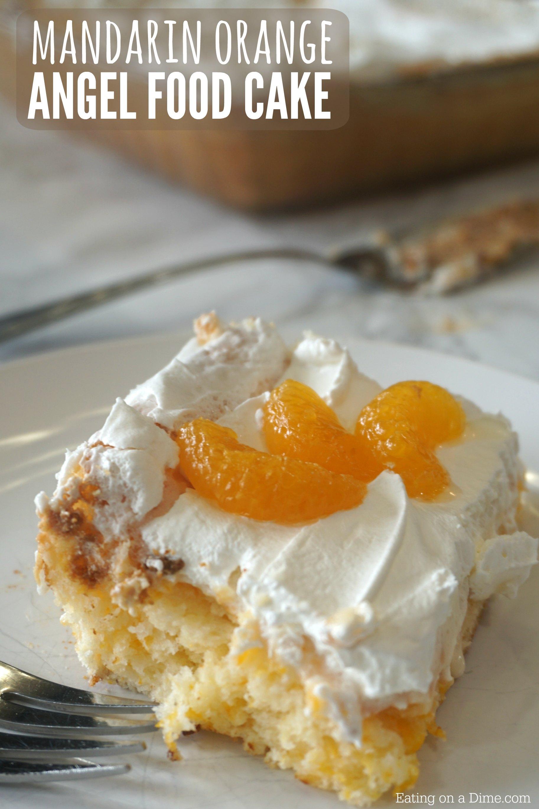 Mandarin Orange Angel Food Cake Dessert