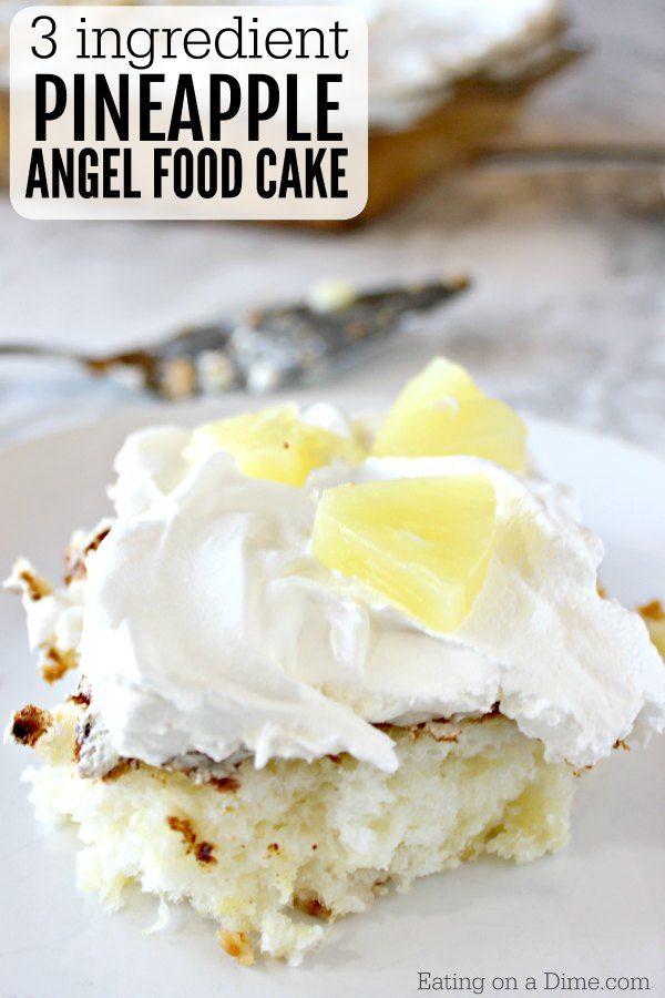Ingredient Pineapple Angel Food Cake