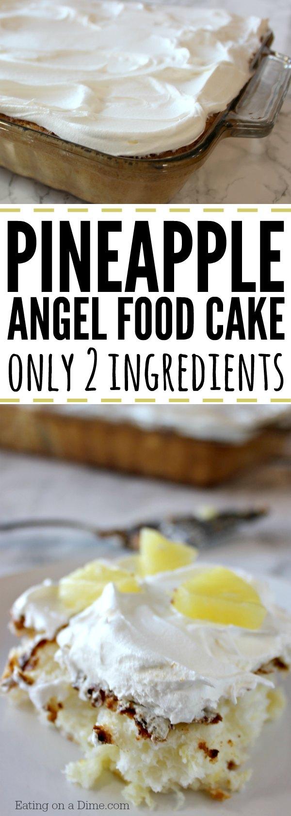 2 Ingredients Pineapple Angel Food Cake Recipe Eating On