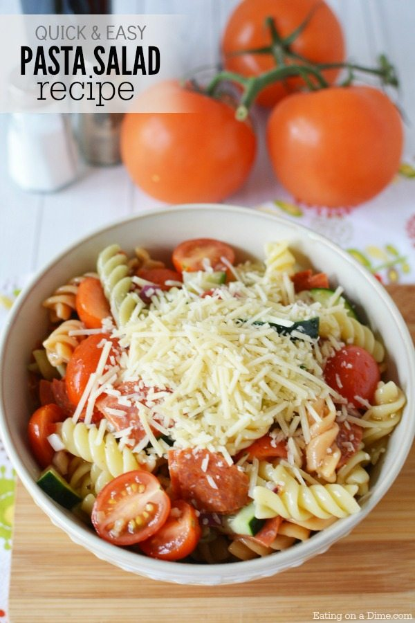 this easy pasta salad recipe it is the most simple pasta salad recipe