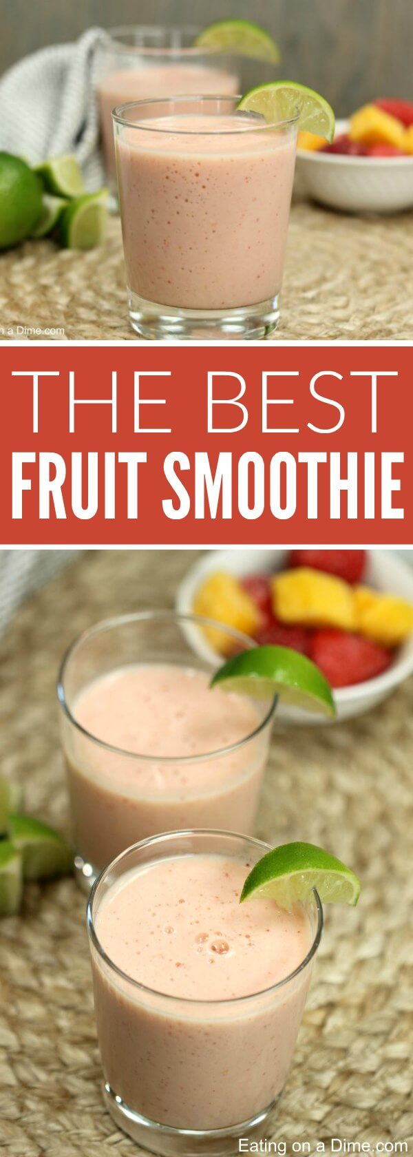 Try this Easy Frozen Fruit Smoothie Recipe for a delicious snack or quick meal. It is such an Easy Fruit Smoothie Recipe.It's also a healthy smoothie recipe. Even the kids will love this Easy smoothie recipe. Try it with strawberries, blueberries and more!