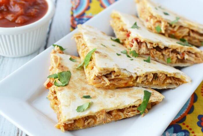 Crockpot Chicken Quesadilla Recipe How To Make Chicken Quesadillas