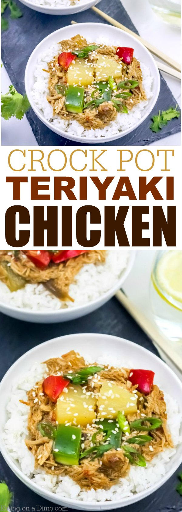 This is an easy Crock pot Teriyaki Chicken Recipe that your family will love. Crock pot chicken teriyaki is a quick and easy crock pot recipe that can be thrown together in minutes.