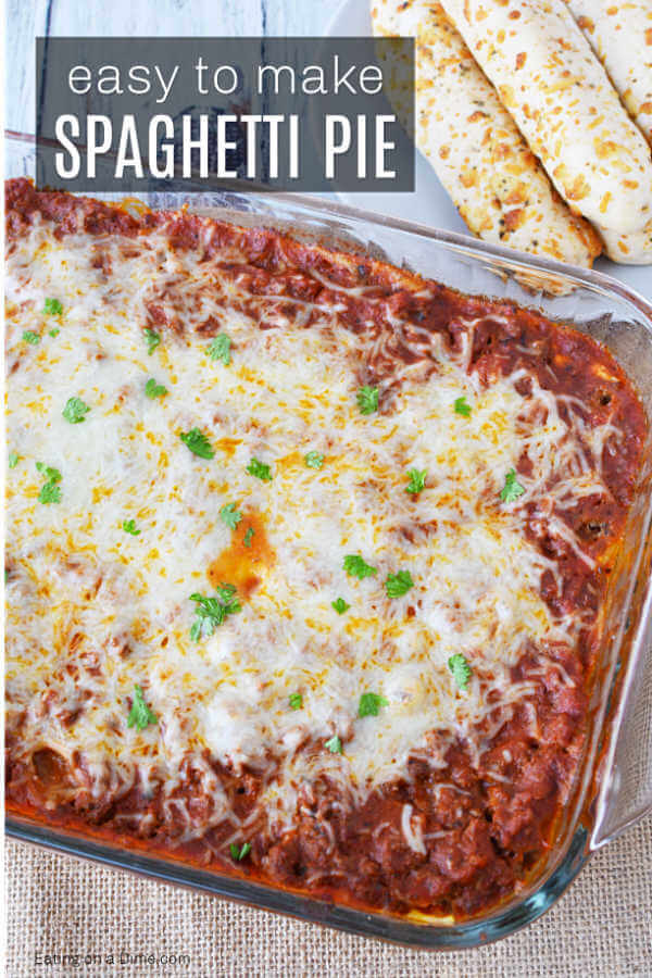 Easy Baked Spaghetti Pie Recipe is simple to prepare and delicious. Baked spaghetti pie is freezer friendly. Easy Spaghetti Pie Casserole can feed a crowd!