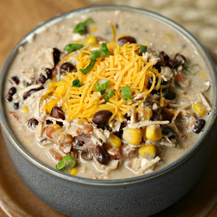 Crockpot Creamy Chicken Taco Soup Recipe Creamy Taco Soup Recipe