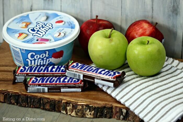 3 Ingredients is all you need for this simple Snicker apple salad recipe. This Snicker Salad Recipe might be easy to make but is tastes great! Try it today!