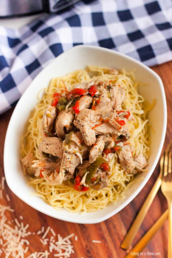 Easy Crock Pot Chicken Scampi Recipe Healthy Chicken Scampi Recipe