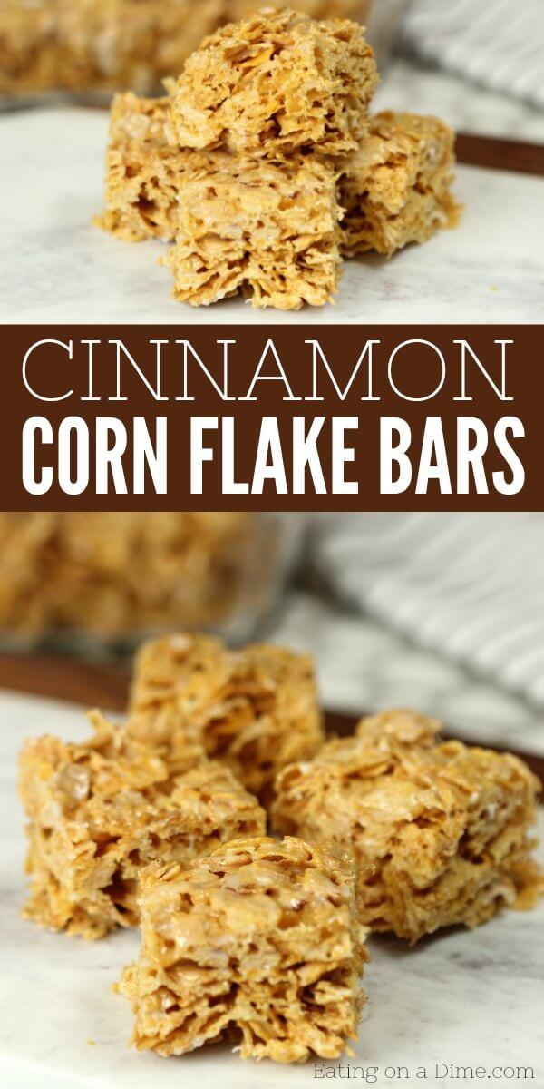 Try this No bake cinnamon corn flake cereal bars recipe. They are absolutely delicious! Once you know how to make cornflake bars, they are so simple. Kid's go crazy over Cinnamon corn flake bars recipe!
