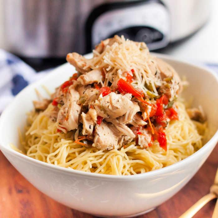 Simple Chicken Crock Pot Recipes Healthy: Easy Crock Pot Chicken Scampi Recipe