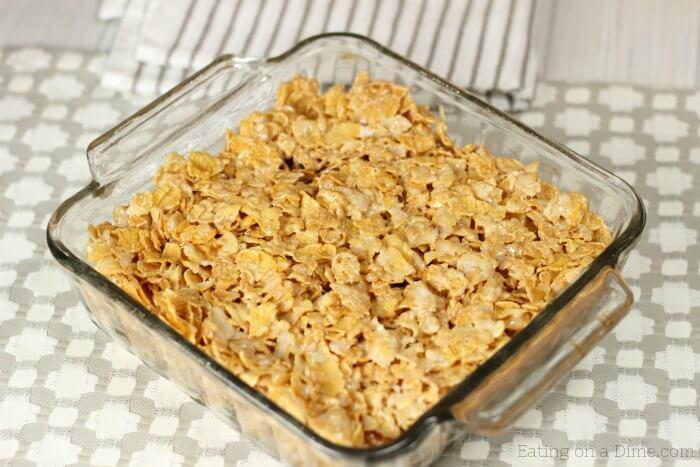No Bake Cinnamon Corn Flake Cereal Bars Recipe Quick And