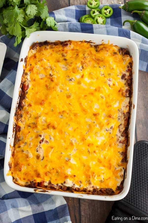 The casserole baked
