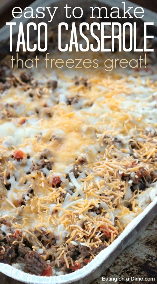 delicious and easy taco casserole recipe
