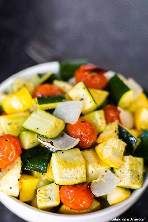 Roasted Zucchini And Squash Recipe Ready In 15 Minutes