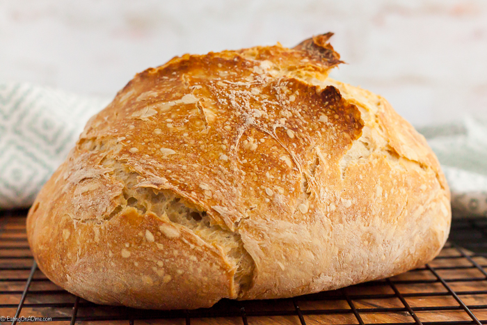 Artisan Bread Recipe only requires 3 simple ingredients and you can have homemade bread at home with little effort. Try this artisan sourdough bread recipe.