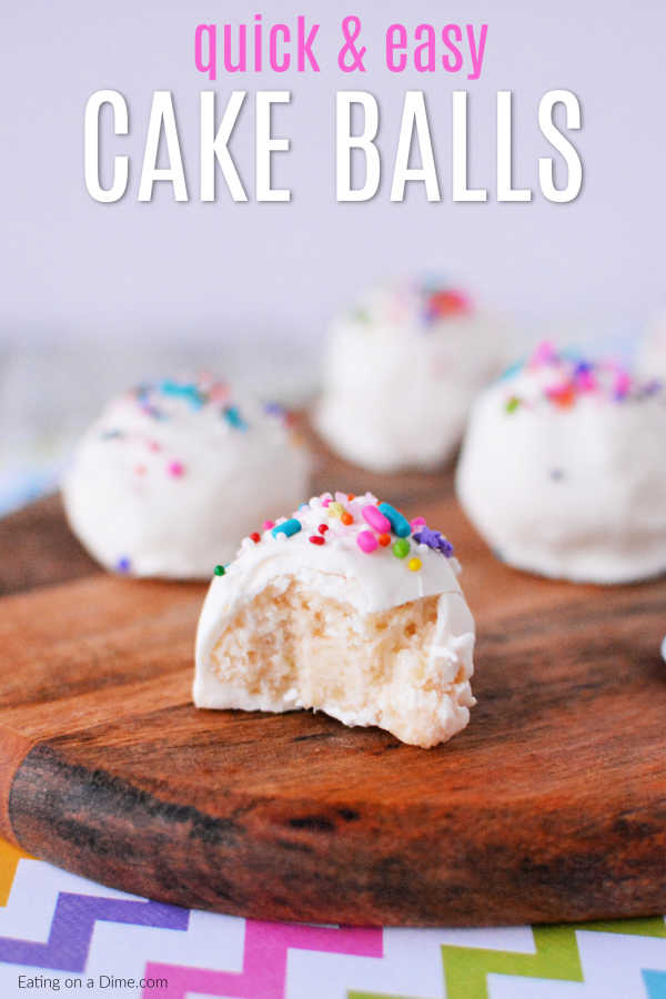 Easy Cake Ball Recipe Quick And Easy Cake Balls