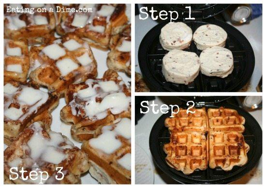 how to cook pillsbury cinnamon rolls in waffle maker