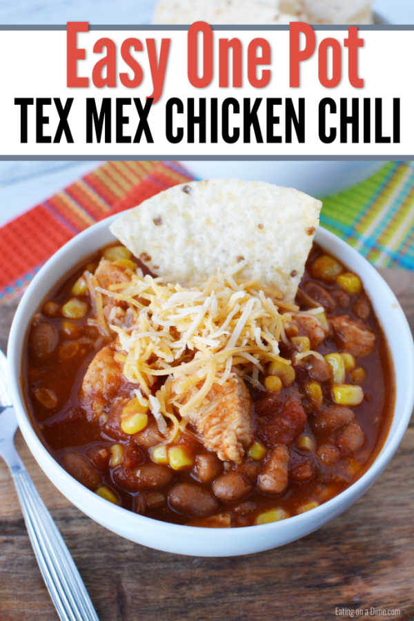 One Pot Tex Mex Chicken Chili Recipe Easy One Pot Meal