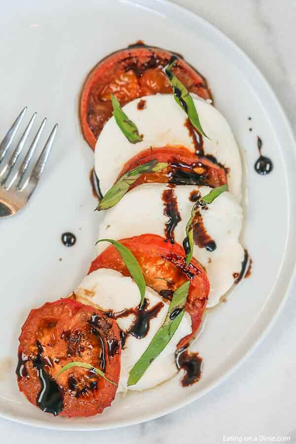 Jazz us Caprese salad with this Roasted tomato and mozzarella salad. The tomatoes are roasted to perfection and the entire dish is delicious.