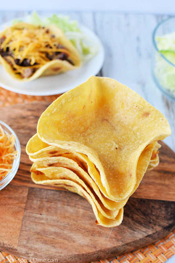 Learn how to make these delicious and Homemade Taco Shells. They are so simple to make and thesehomemade taco bowls taste great and are budget friendly.